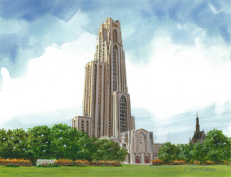 University Of Pittsburgh Campus Scene Edition Diploma