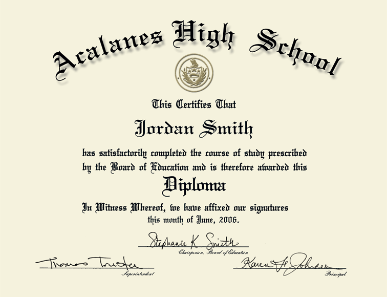 Acalanes High School In California Gold Engraved Medallion
