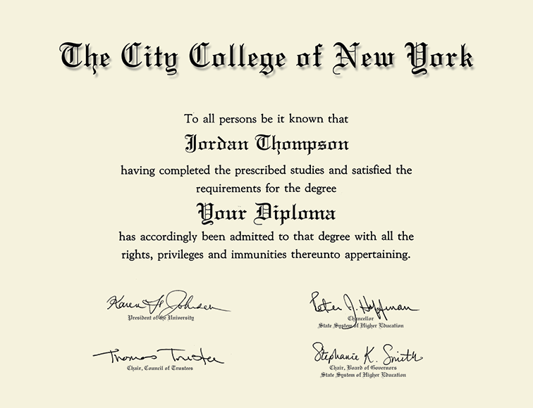 The City College Of New York Tassel Edition Diploma Frame