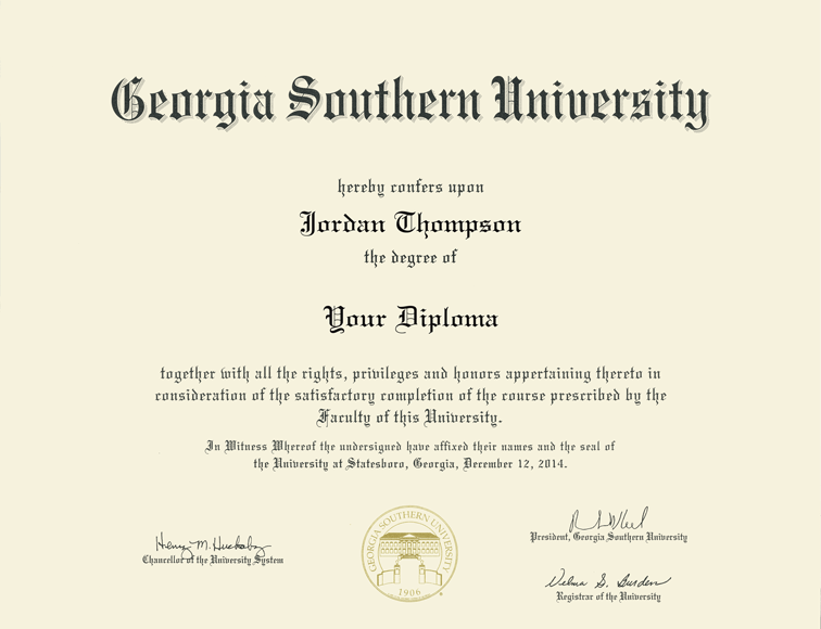 Georgia Southern University Tassel Diploma Frame In