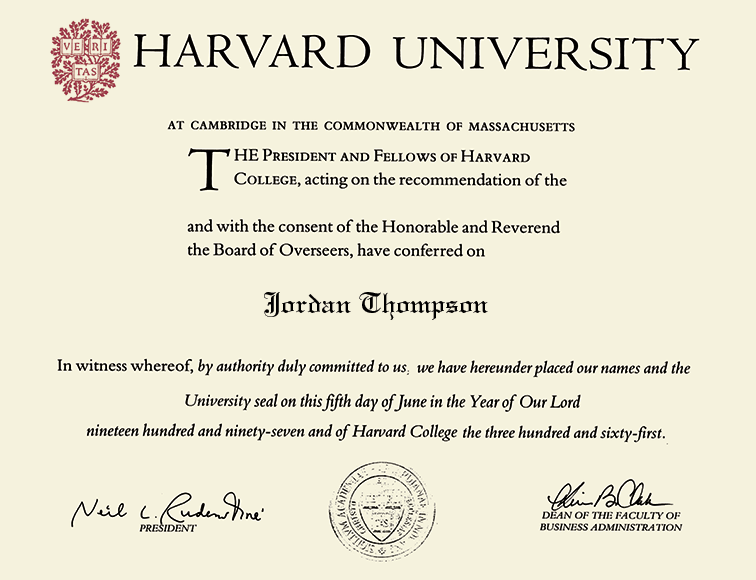 Harvard University Gold Embossed Diploma Frame In Gallery