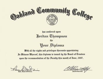 - In Item College Community Bookstore Embossed Oakland From Gold Sierra Frame 198961 Diploma