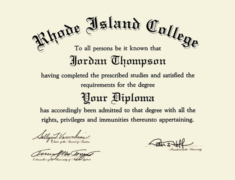 Rhode Island College Gold Embossed Diploma Frame in Gallery - Item ...