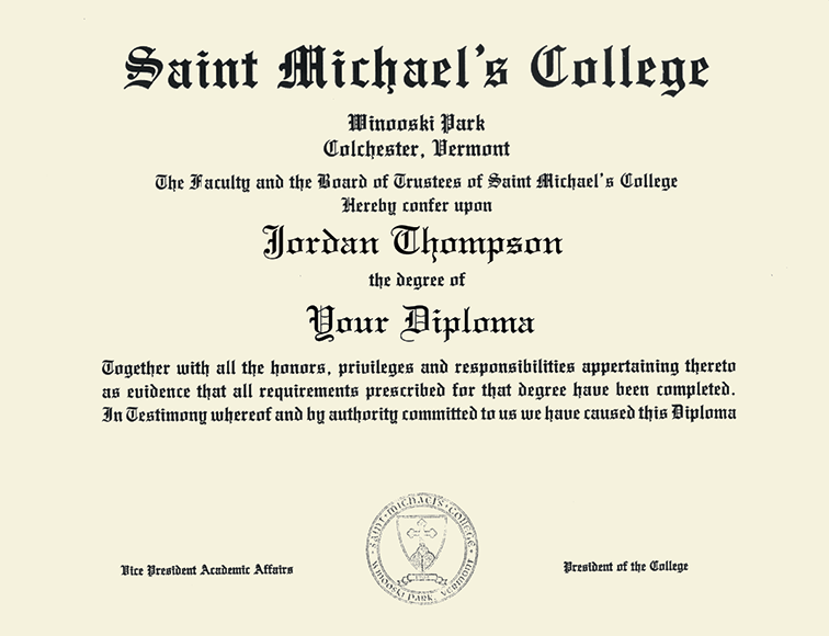 Saint Michael\'s College Tassel Edition Diploma Frame in Newport ...