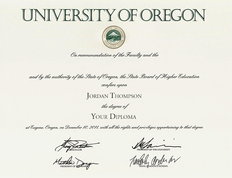 University Of Oregon Tassel Edition Diploma Frame In