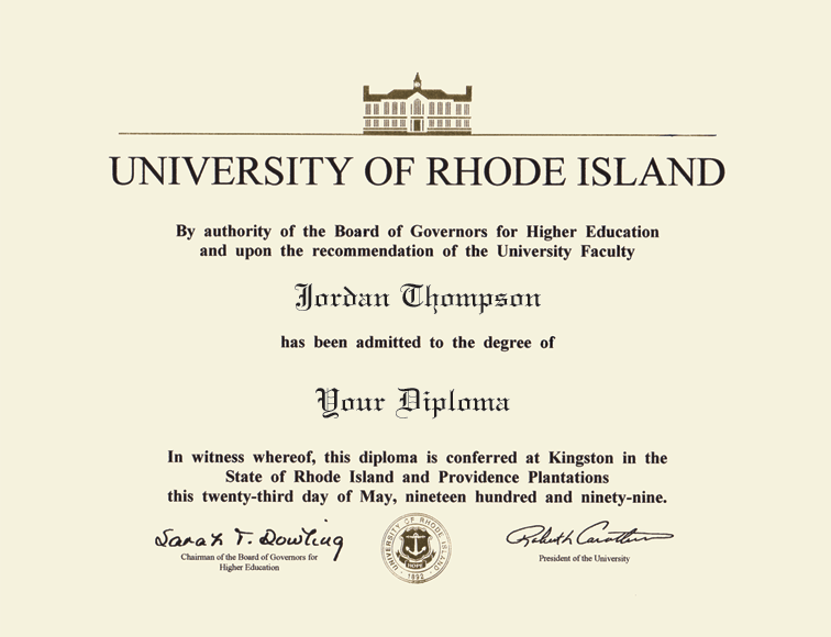 The University of Rhode Island Tassel Edition Diploma Frame in ...
