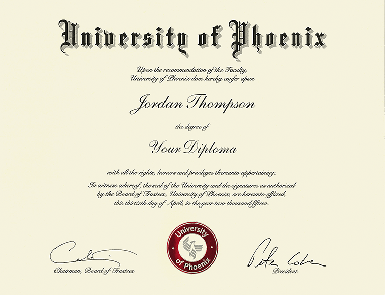 University of Phoenix Masterpiece Medallion Diploma Frame in Chateau ...