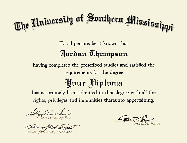 The University Of Southern Mississippi Tassel Edition
