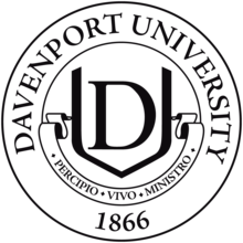 Davenport University Black Embossed Diploma Frame In Onexa