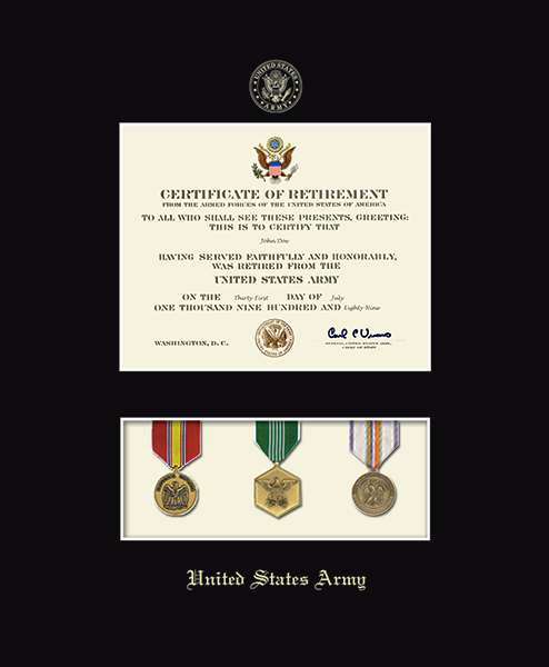 United States Army Medal Display Certificate Frame in Newport - Item ...