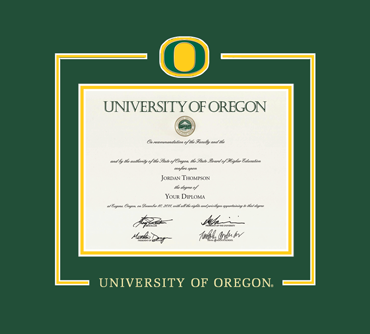 University Of Oregon Spirit Medallion Diploma Frame In