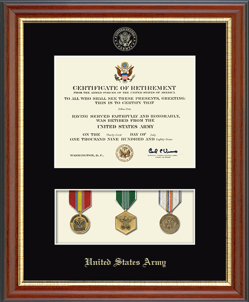 "United States Army 11""x14"" Medal Display Certificate Frame"