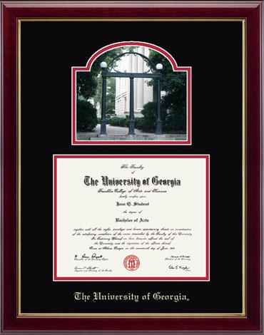the university of georgia campus scene diploma frame in gallery item 124518 from baxter street bookstore