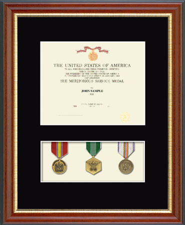Military Award Frames Military Certificate And Medal