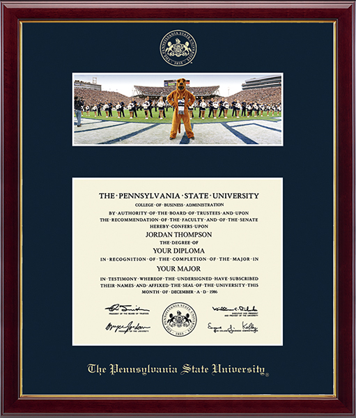 Campus Scene Diploma Frame - Mascot/Cheerleaders in Galleria