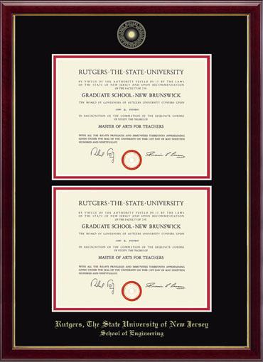 Rutgers, The State University of New Jersey Gold Embossed Double ...