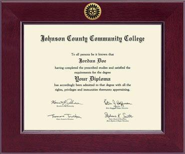 johnson county community college diploma frame