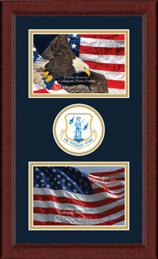 Air National Guard Lasting Memories Double Circle Logo Photo Frame in Sierra