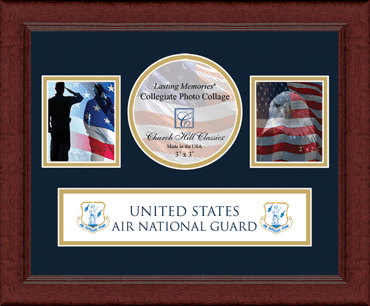 Air National Guard Lasting Memories Banner Collage Photo Frame in Sierra