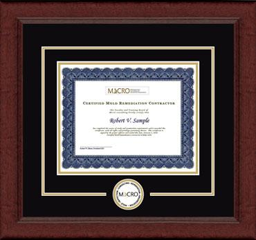 Certificate Edition Circle Logo Frame in Sierra