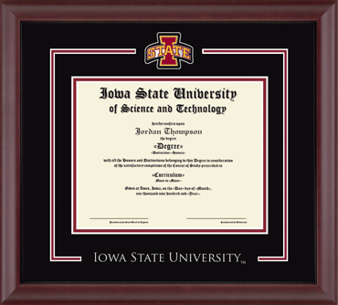 Iowa State University - Diploma Frames - Church Hill Classics