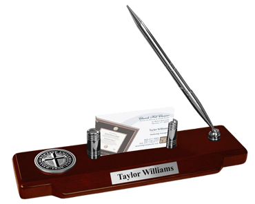 Pewter Masterpiece Medallion Desk Pen Set