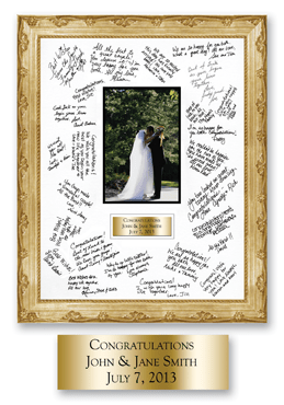 Autograph Frame - Brass Plate - 11 x 14 - fits 4x6 photo in Essex