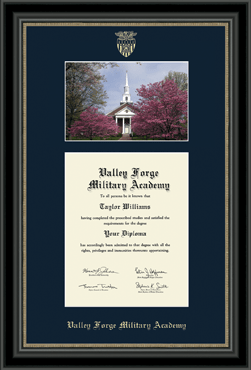 Campus Scene Edition Diploma Frame in Noir