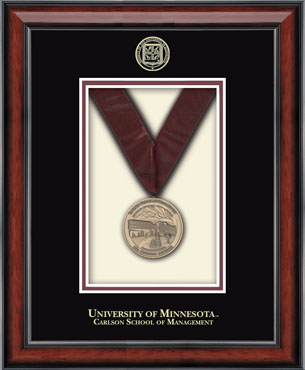 University Of Minnesota Twin Cities Medal Box Frame In