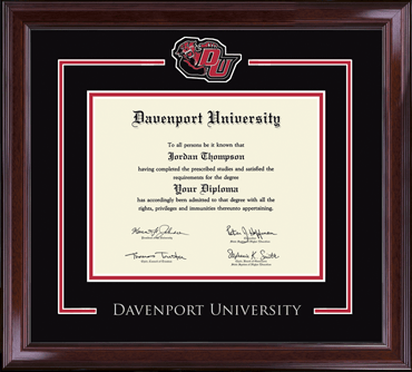 Davenport University Spirit Medallion Diploma Frame In