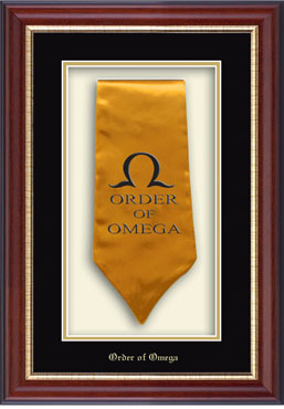 Order Of Omega Commemorative Stole Shadow Box Frame In