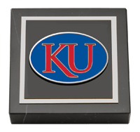 Pewter Spirit KU Medallion Paperweight