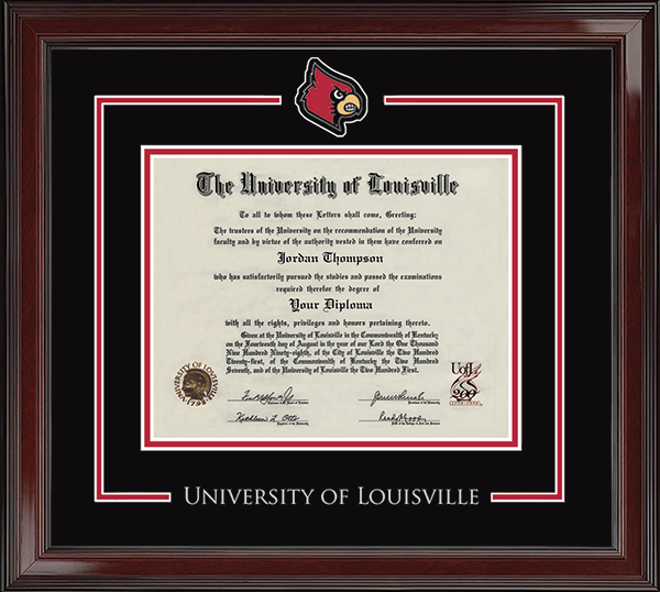University Of Louisville Spirit Medallion Diploma Frame In