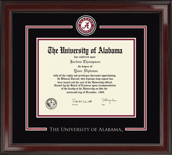 The University of Alabama Tuscaloosa - Diploma Frames - Church Hill ...
