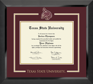 Texas State University - Diploma Frames - Church Hill Classics