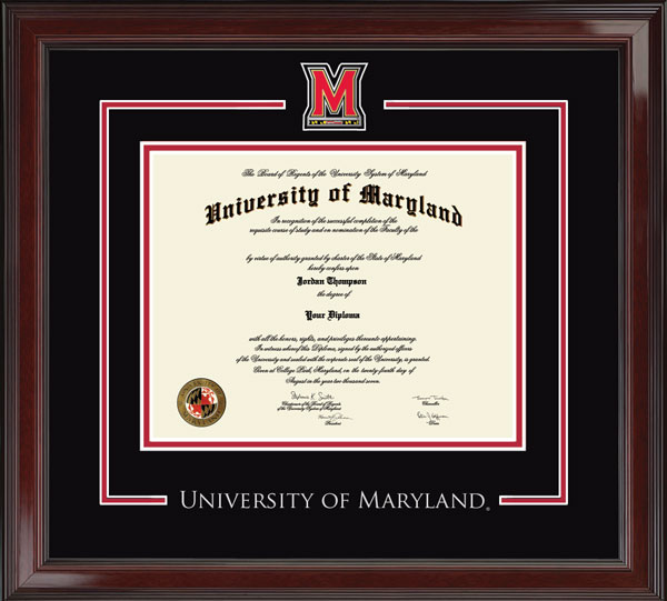 University Of Maryland College Park Spirit Pewter Medallion Diploma Frame In Encore Item 247311 From University Of Maryland College Park