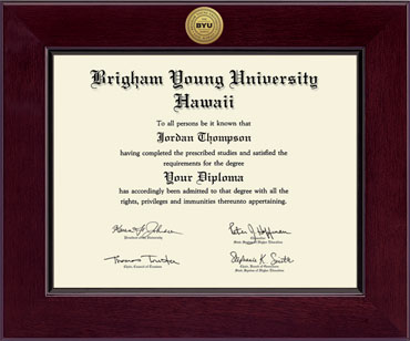 brigham young university hawaii diploma frames church hill classics