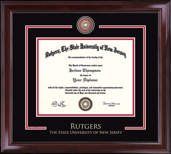 Rutgers, The State University of New Jersey Showcase Edition Diploma ...