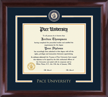 Pace University Showcase Edition Diploma Frame In Encore