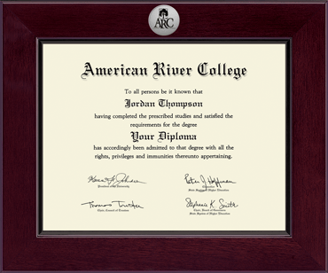 american river college century silver engraved diploma frame  american river college diploma frame