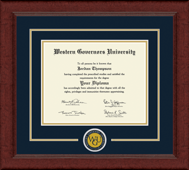 Western Governors University - Diploma Frames - Church Hill Classics