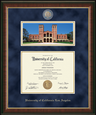 Royce Hall Campus Scene Edition (Photo by Huy Moeller '12) Masterpiece Diploma Frame in Murano