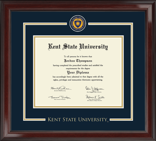 Kent State University Showcase Edition Diploma Frame In Encore Item 269789