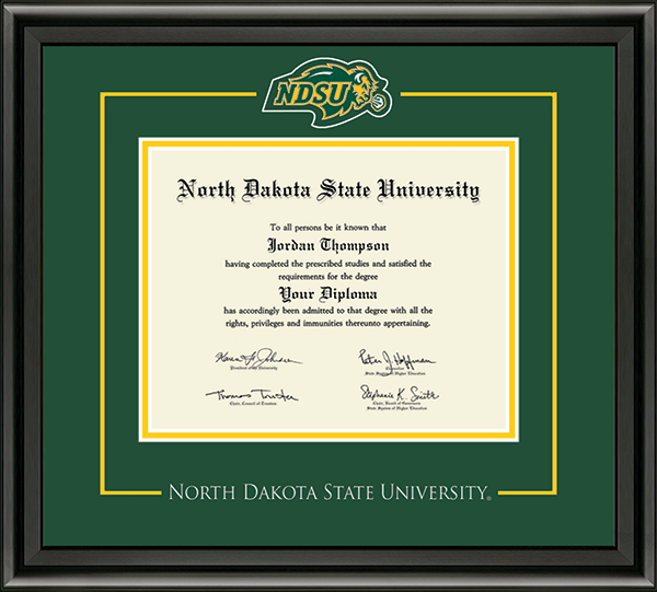 North Dakota State University Spirit Medallion Diploma Frame in ...
