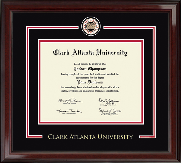 Clark Atlanta University Showcase Edition Diploma Frame In