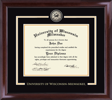 University Of Wisconsin Milwaukee Showcase Edition Diploma Frame In Encore Item 284738