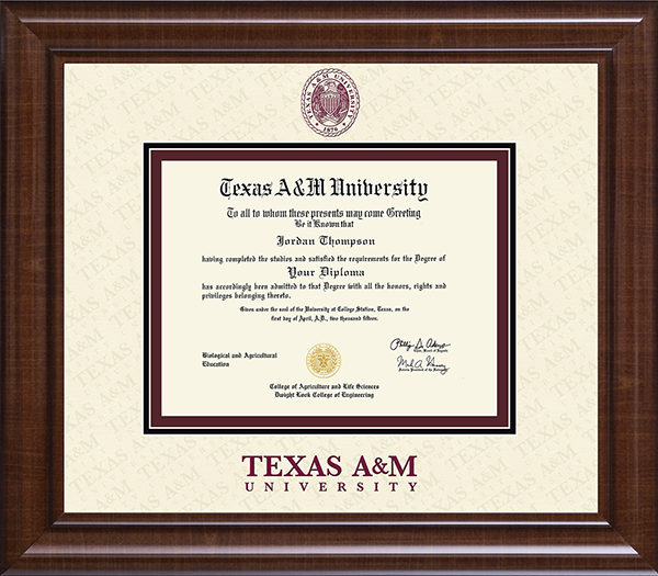Texas A&M University Dimensions Plus Diploma Frame in Prescott ...