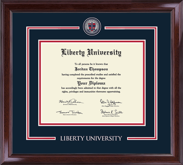 Liberty University - Diploma Frames - Church Hill Classics