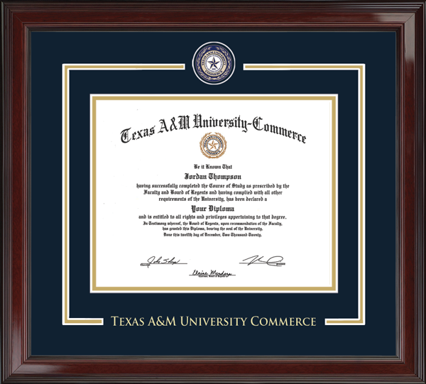Texas A&M University - Commerce - Diploma Frames - Church Hill Classics