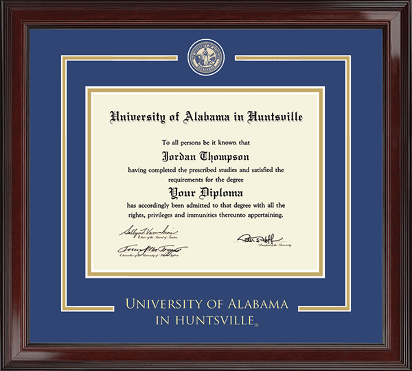 The University of Alabama Huntsville - Diploma Frames - Church Hill ...